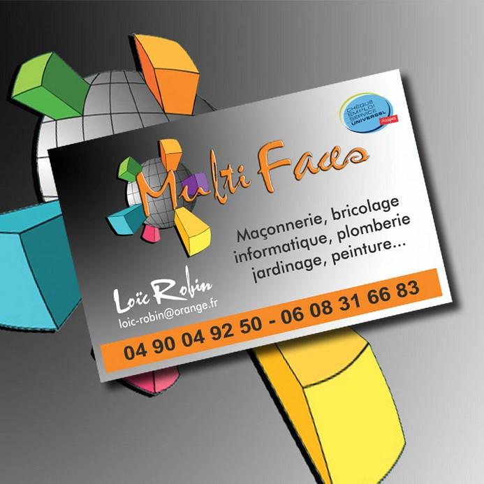 Utilisation Du Logo Cr Pour Conception De Maquette Et Impression Cartes Visite 85 X 55mm 350g M Une Entreprise Multiservices